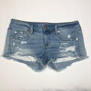 American Eagle Stretch Super Low Shortie Size 4